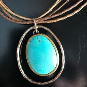 Silpada turquoise howlite necklace